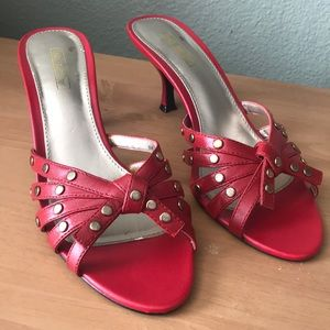 Coach and Four, Red Leather heels